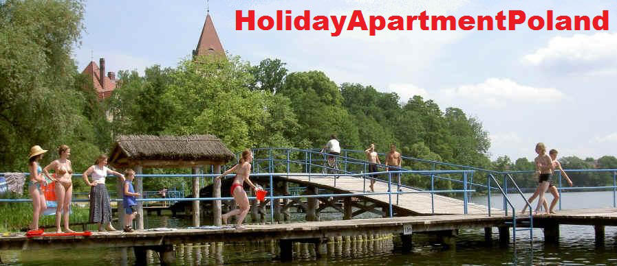 Holiday let - cheap vacation apartment for rent in lake resort in west Poland